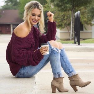 Cozy Vibes✨FREE PEOPLE Luxe Chenille Knit Sweater